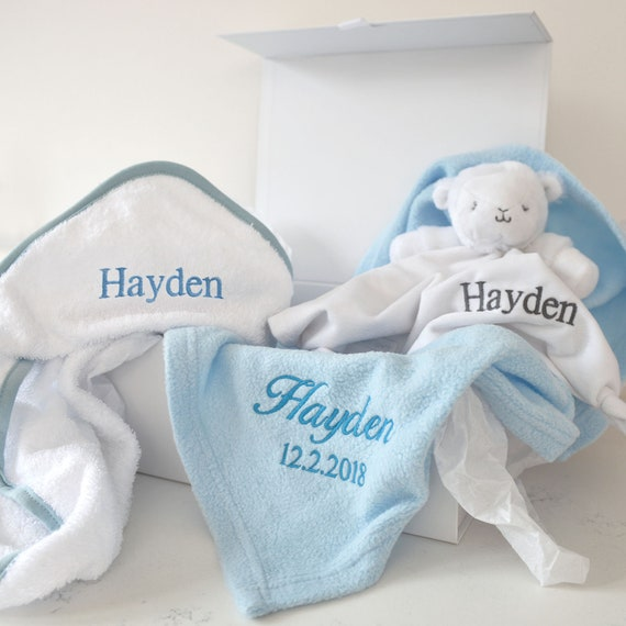 Phil Embroidered Personalised Blanket//Towel Gift