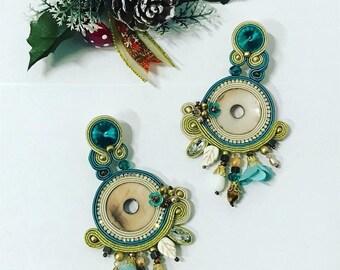 soutaches Pearl Hoop Earrings!