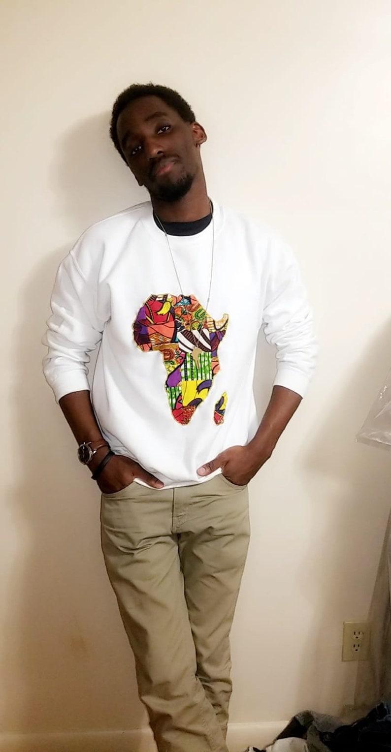 African Map sweatshirt White