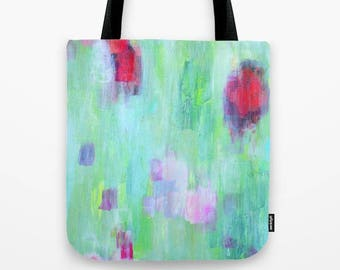 Abstract Painting in Tote Bag, Colorful Tote Bag with an image of an original abstract painting
