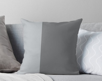 Grey decorative throw pillows - Grey Pillows - Gray Pillows for couch - FREE Shipping - Sizes 16 x 16, 18x18, 20 x20