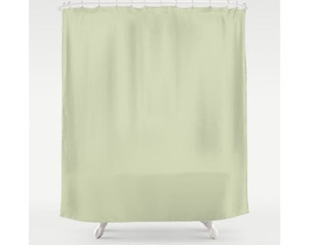 Green Shower Curtain Olive Curtains Solid Color Bathroom Fabric Bath Modern And Classic