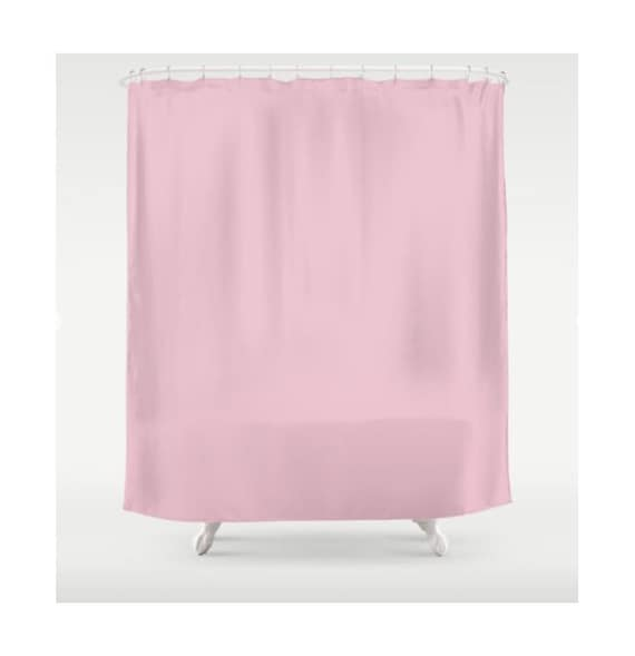 Pink Shower Curtain Solid Color Curtains Fabric