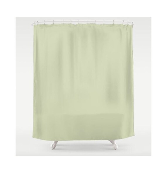 Green Shower Curtain Olive Curtains Solid Color