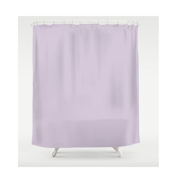 Purple Shower Curtain Solid Color Curtains Lilac