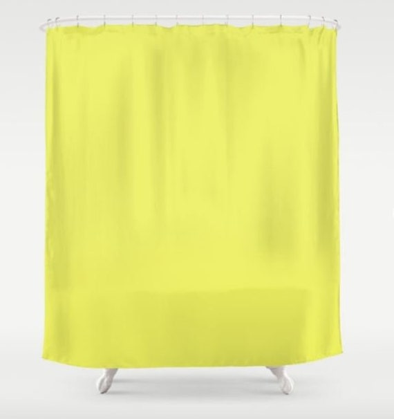 Neon Shower Curtain Solid Color Fabric