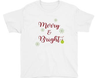 Merry & Bright Youth Short Sleeve T-Shirt