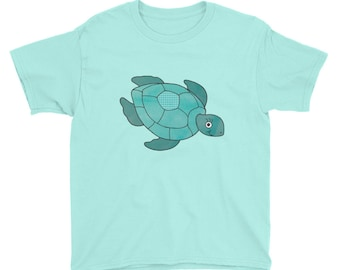 Cute Turtle Youth Short Sleeve T-Shirt