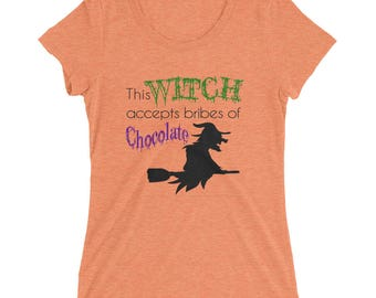 Witch & Chocolate Ladies' short sleeve t-shirt