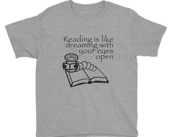 Reading Is Like Dreaming...Youth Short Sleeve T-Shirt