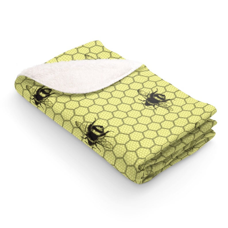 BLANKET Honey Bee Sherpa Fleece Blanket