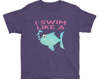 I Swim Like a Fish Youth Short Sleeve T-Shirt