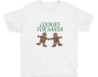 Cookies for Santa Youth Short Sleeve T-Shirt