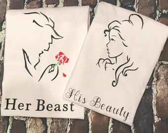His beauty, Her beast custom tshirt