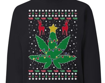 Weed sweater 420 | Etsy