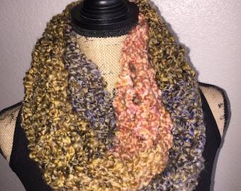 Handmade Crochet Gold Infinity Scarf
