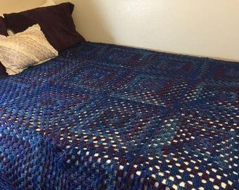 King Crochet Motif Blanket