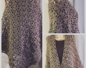Handmade Crochet Heather Virus Shawl