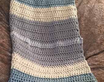 Silver Lining Crochet Throw