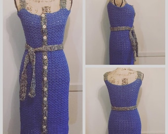 Denim Mesh Dress