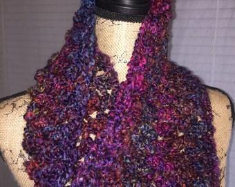 Blue Berry Crochet Cowl