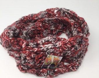 Crimson Lace Infinity Scarf