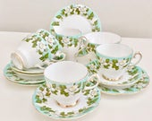 Vintage teaset for 4, Gladstone early 1960s - perfect wedding or house warming gift