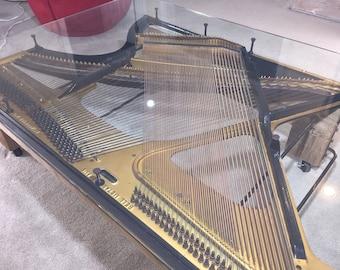 Piano Harp Coffee Table, Modern Decor Table