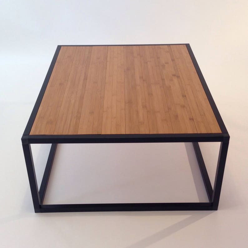 Light Bamboo Wood Coffee Table End Table Decor Table