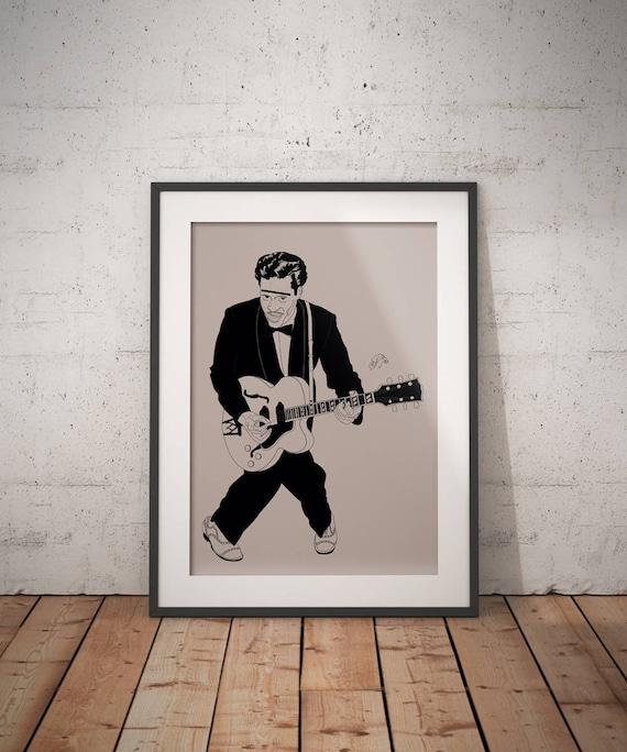 Custom Chuck Berry Silk Poster New Wall Decor