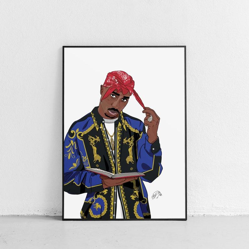 Tupac 2Pac Poster Print Hip Hop Rap Pop Art Bedroom ...