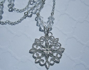 Starflower 925 Sterling Silver Charm Reversible Necklace