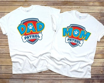 Paw Patrol Birthday Shirt Mom And Dad Shirts