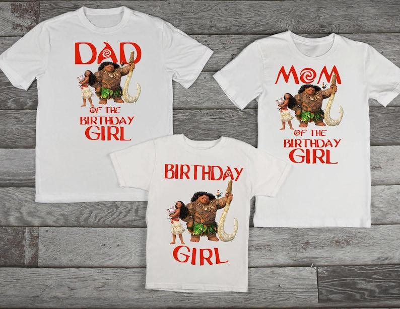 8a666f6c Moana birthday shirt Moana family birthday shirts | Etsy