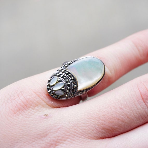 Vintage Sterling Silver Mother Of Pearl And Marcas