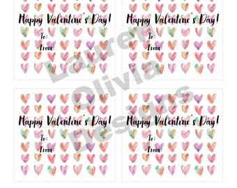 Printable — Valentine's Day Hearts