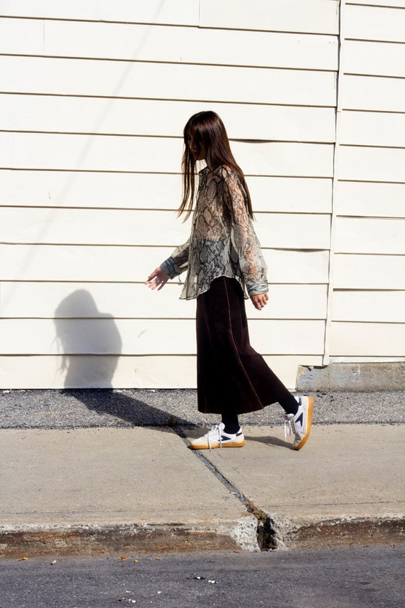 Ferre Studio suede skirt - designer brown suede sk