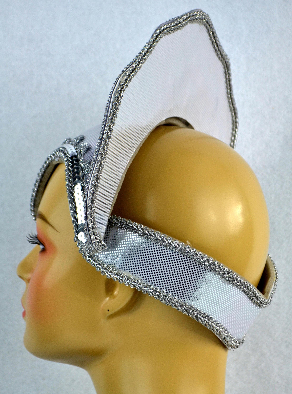 Silver Skull Cap Hat Base Carnival Headdress Frame we ship from USA ...