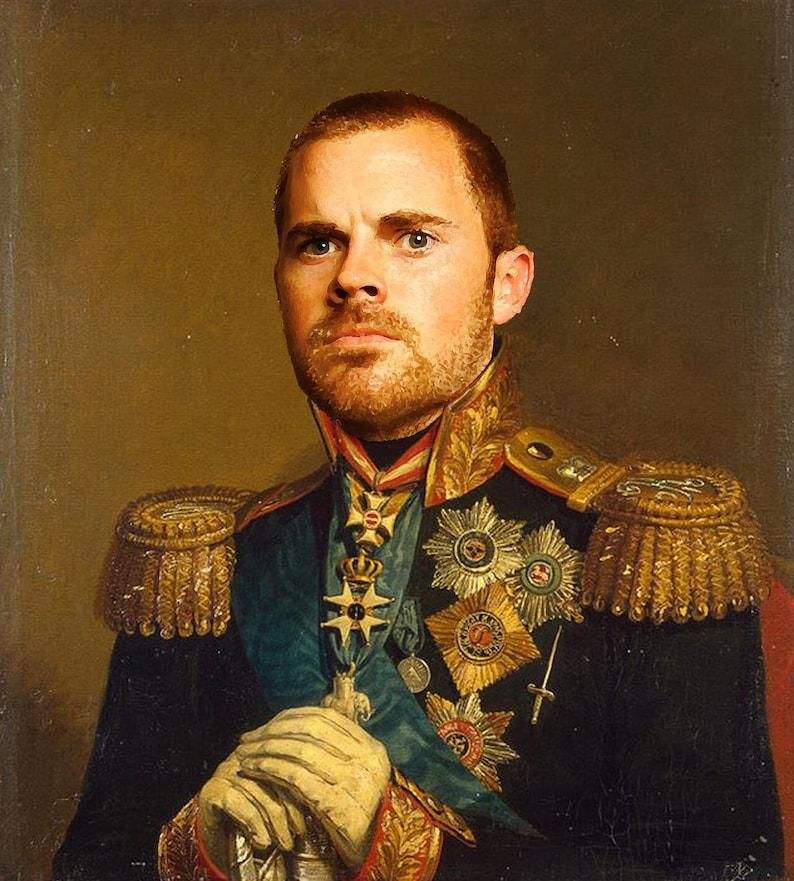 Custom Personalized Military Portraits image 0