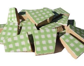 Solid Color Ceramic Mosaic Tile Pieces Crafters Cut Ceramics Etsy - Ceramic tile scraps