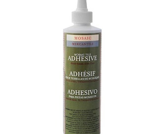 Mosaic Tile Adhesive - Clear Dry Glue with Easy Cleanup - Mosaic Mercantile Adhesive