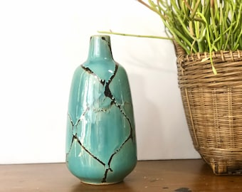 Blue Glazed Ceramic Vase
