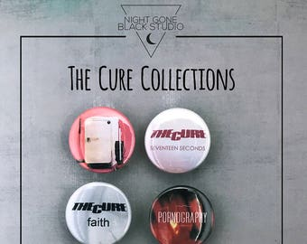 The Cure Discography 1 5 Button Collection Friday | Etsy