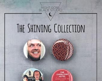 "The Shining- 1.5""  Pinback Button Set - Cult Horror Film, Stanley Kubrick"