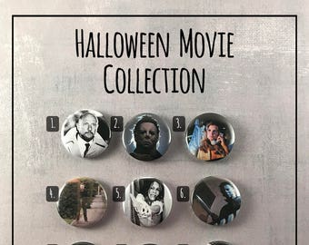"Halloween Movie 1978 1"" Buttons - Michael Myers Slasher Movie"