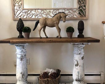 Restoration Hardware Inspired Console Table   Console Table   Entry Table    Choose Color