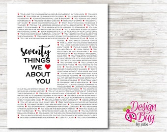 70 Things We Love About You - Poster