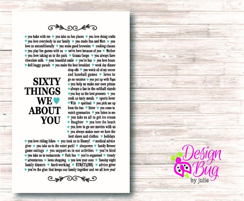 Poster 60 Things We Love About You
