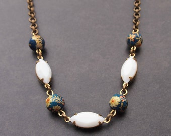 Vintage Bead Necklace; Upcycled Jewelry; Vintage Necklace