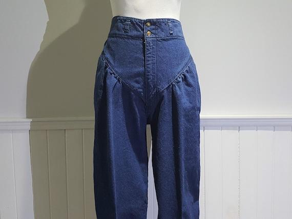 1983 Rainbow High Waisted Jeans; High Waist Pants